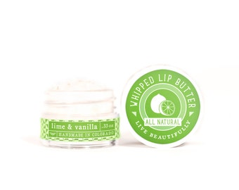 Lime & Vanilla - Whipped Lip Butter - Natural Icing for Your Lips
