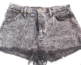 Wrangler acid wash cut-off shorts