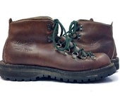 Vintage Danner Mountaineer Leather Lace Up Hiking Boots, Mens 7