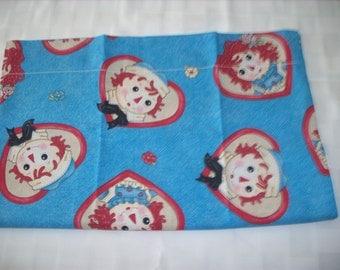 Raggedy Ann & Andy travel pillowcase