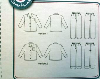 Slouchy Pyjamas Sewing Pattern - Beginners Plus - Sizes 8 - 22 - PJ's Pyjama Nightwear