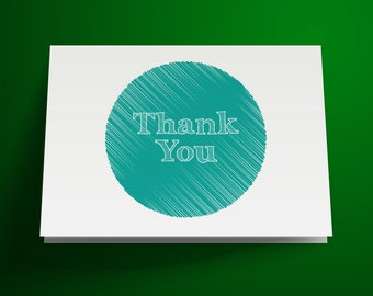 Printable Thank You Card, Sketch Thank You Card, DIY Instant Download, Wedding Thank You Card, Birthday Thank You Card, Hand Drawn Minimal