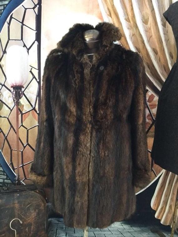 Vintage Soft Brown Fur Coat, Luxurious Fur Teddy Bear, Shoulder Repair Fur. Scrap Fur. Teddy Bear Fur.