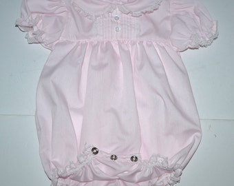 Vintage Alexis  girls wear toddler 6 m girl's poly cotton playground  romper overall made in USA New vintage Gift for baby girl  Photo prop