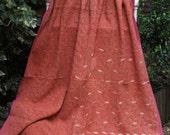 Kantha quilt, Peach Kantha,Sari throw, Sari Blanket, Kantha Blanket,  Kantha Throw, Indian Quilt, Coverlet, Ralli Quilt,Kantha