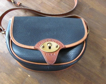Authentic Vintage Dooney and Bourke Navy Blue All Weather Leather Handbag