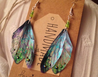 Gorgeous Magical Fairy Wing Earrings - made to order - 7 day to delivery in the UK