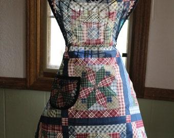Quilt Pattern Kitchen Apron
