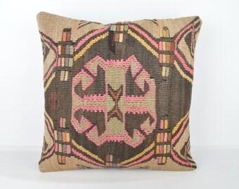 Wool Pillow, Kilim Pillow, KP1111,  Decorative Pillows, Designer Pillows,  Bohemian Decor, Bohemian Pillow, Accent Pillows, Throw Pillows
