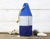 Beach Decor, Old-style lobster float buoy, Blue, White, Dark Blue, Vintage Style, Nautical, by SEASTYLE