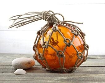"Beach Decor Vintage Fishing Float Orange  6"" by SEASTYLE"