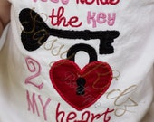 Valentine's Day Shirt Daddy Has The Key 2 My Heart
