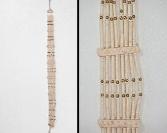 BONE Beaded Belt // 1970s Tribal Hippie African // 32 to 33.5 Inch Waist