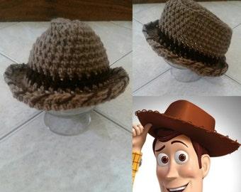 Crochet Disney's Toy Story Cowboy Woody Hat
