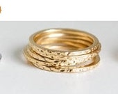 Holiday SALE 50% OFF Hammered ring ROSE Gold
