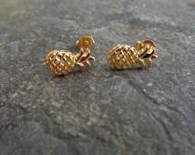 Pineapple Earrings, fruit earrings, stud earrings, wedding earrings, bridesmaid earrings, flower girl, Popular earrings, cute earrings