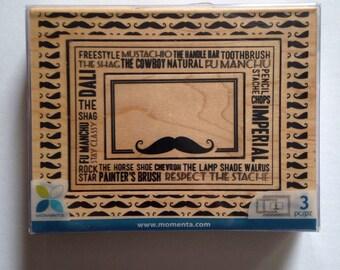 mustache stamp set