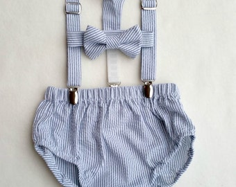 Cake Smash Outfit, Baby Boy Prop, Photography Outfit, Diaper Cover Bow Tie, Suspenders Outfit, Baby Photo Outfit, Photography Prop, Baby Boy
