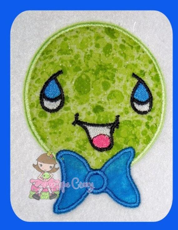 Baby Boy Pea Applique Embroidery design