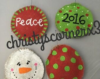 Burlap Christmas Ornaments Unique Christmas Ornament Burlap Ornament Burlap Gift Tag