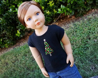 Sparkly Christmas tree tee for Kidz & Cats dolls