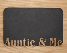 5x7 Auntie & Me mat insert for picture frame – Aunt Frame, Aunt, Auntie, Aunt gift, I love my Aunt, Aunt to be, Gifts for Aunts Niece Nephew