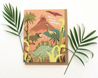 Dinosaur Greeting Card - Birthday