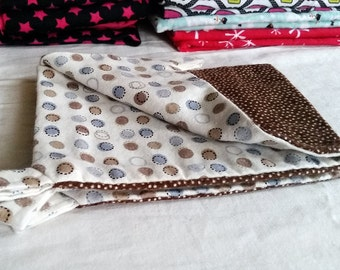 Ferret / Small Animal Hammock - Small - White, Brown and Blue Dots