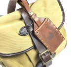 Leather Luggage Tag / Leather Badge Holder - Free Inscription
