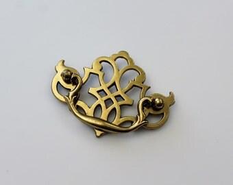 Vintage Brass Dresser Drawer Handle Pull - KBC - Keeler Brass Co. Hardware - Furniture Restoration Hardware