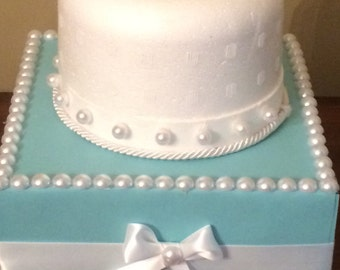 Ready to ship!  Aqua Turquoise Robins Egg Blue Pearl Cake Pop Stand / Candy Buffet Centerpiece / Cupcake Stand