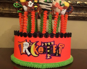 Halloween Cake Pop Stand Print Cake stand/Topper Centerpiece display/Party/Table Decoration with Rhinestones