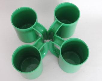 Massimo Vignelli Green Heller Max Mugs- Set of 4