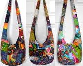 MADE TO ORDER Crossbody Bag Hobo Bag Sling Bag Hippie Purse Hobo Purse Boho Bag Bohemian Purse Patchwork Crazy Quilt Handmade Bag Slouch Bag