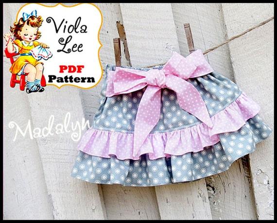 Madalyn.... PDF Toddler Skirt Pattern. Girl's Skirt Patterns. pdf Sewing Pattern, Infant Skirt Pattern. Ruffle Skirt Pattern
