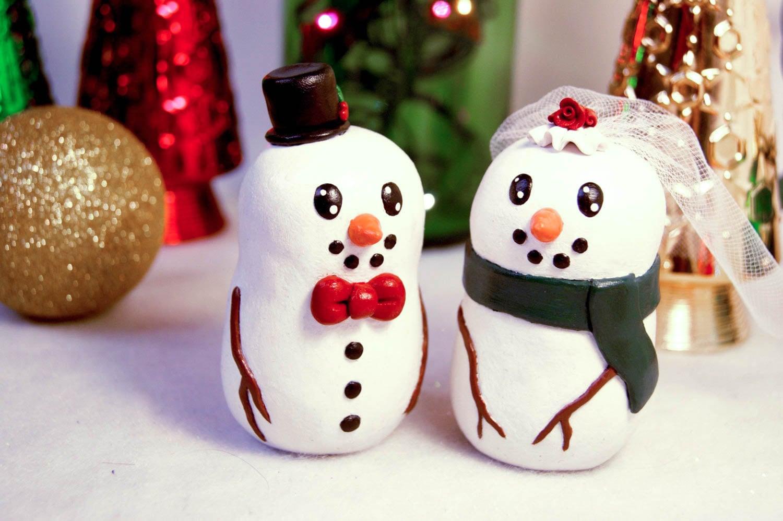 Snowman Wedding Cake Toppers [E10261624442455929M] - $43.99 ...