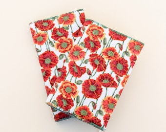 Poppies 2018 or 2017 / 2018 Academic Diary & Notebook / Journal Gift Set