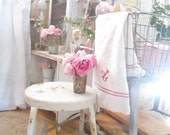 Reserved layaway order Cart farmhouse metal cart with castors prairie  stool shabby chic cottage