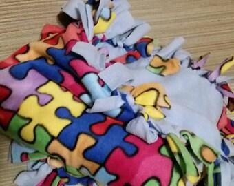 Autism fleece blanket