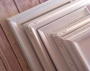 Reserved 12 Shabby Chic PICTURE FRAMES  - Any Color -  Wedding Nursery Housewarming - Glass and Backing - Tabletop and Wall Hanging