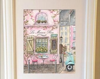 Paris Bedroom Decor, Nursery Girl Paris Art, Paris Decor, Personalised  Nursery Art For