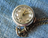 Gorgeous Manual Pendant Watch with Bowed Glass Face