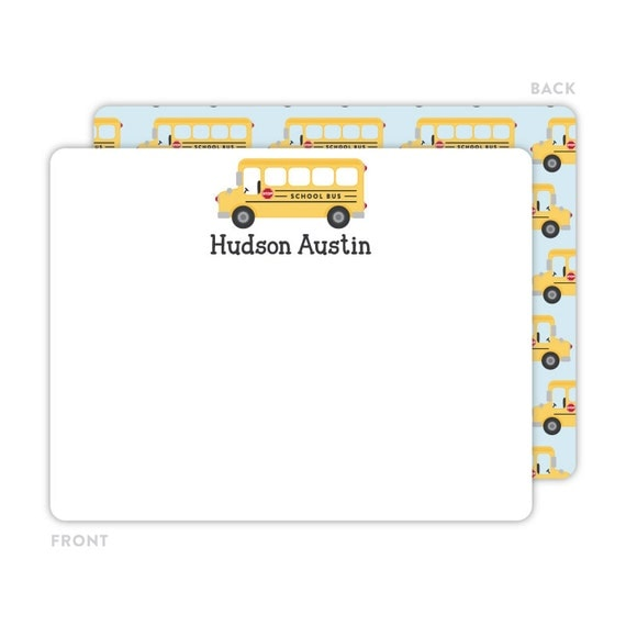 Executive College Stationery Note Cards: Personalized Flat Note Cards