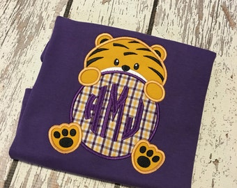 LSU University Tigers Purple and Gold boys shirt, LSU tigers boy shirt, LSU Tigers purple gold boy outfit