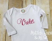 Baby Girl Coming Home Outfit, Infant Gown, Baby Gown, Newborn Photos,Personalized Baby Gift, Baby Shower Gift, Hospital Gown...Zippered Gown