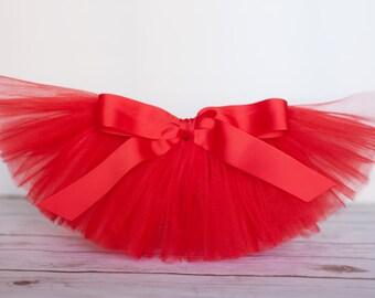 """Red tutu """"Debra"""" red tutu skirt red Newborn tutu red baby tutu photo prop first birthday tutu 3 months 6 months 9 months 12 months 18 months"""