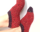 Slippers, Cozy Hand Knit Slippers, Boho, Knit Slippers, Ankle Slippers, Hipster, Mens Knitted Slippers, Womens Knit Slippers, Teen Slippers