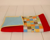 Modern Child's Quilt, Baby Crib Quilt,  Wall Hanging, Made to Order Quilt, Homemade Quilt, Personalized Quilt