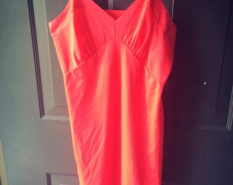 Vintage ladies red Slip Size small