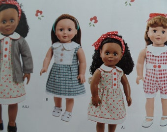 Simplicity 1443-- 18 Inch Doll clothes sewing pattern
